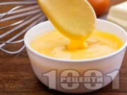 Лесен сос Холандез с горчица и олио в блендер - снимка на рецептата